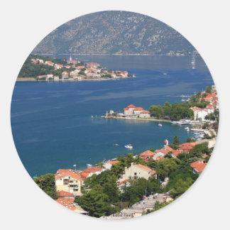 Kotor Fjord, Montenegro Classic Round Sticker