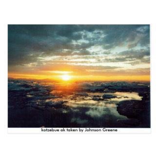 KOTZ SUN JG SET (2), kotzebue ak taken by Johns... Postcard