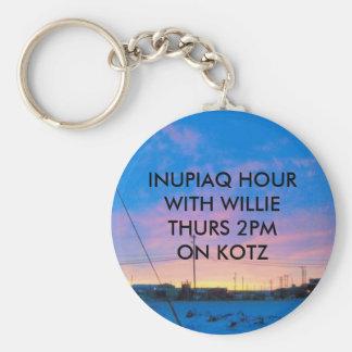 KOTZ SUNDOWN (2), INUPIAQ HOURWITH WILLIETHURS ... BASIC ROUND BUTTON KEY RING