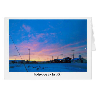 KOTZ SUNDOWN (2), kotzebue ak by JG Card