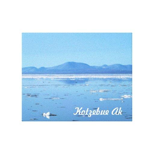 kotzebue alaska break up stretched canvas prints