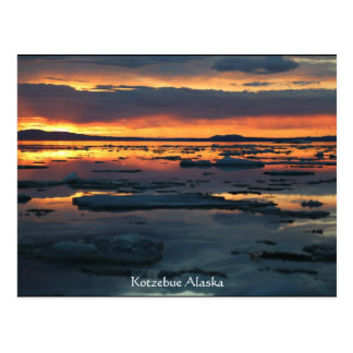 kotzebue alaska break up sunet postcard