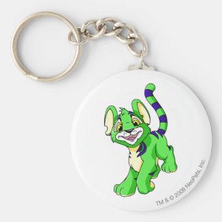 Kougra Green Basic Round Button Key Ring