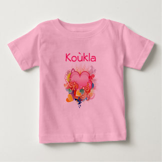 Koukla Retro-Heart-Design Baby T-Shirt