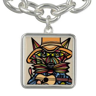 """Kountry Kat"" Square Charm Bracelet"