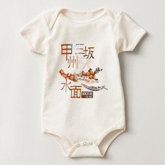 Kousiyuu three hill water surface baby bodysuit