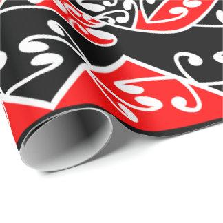 Kowhaiwhai Traditional Maori Koru Pattern Wrapping Paper