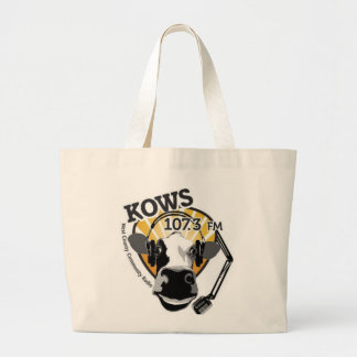 KOWS cow with microphone shopping bag