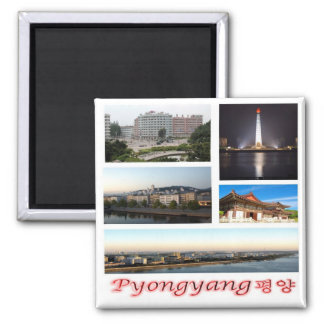 KP - North Korea - Pyongyang - Collage Magnet