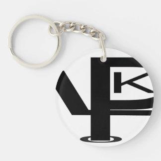 "KPL logo Small (1.44"") Premium. Double-Sided Round Acrylic Key Ring"