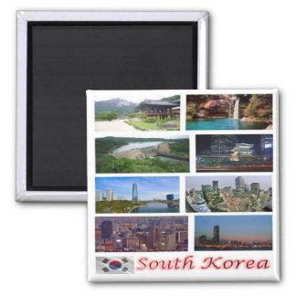 KR - South Korea - Mosaic - Collage Magnet