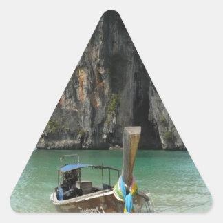 Krabi beach, Thailand 3 Triangle Sticker