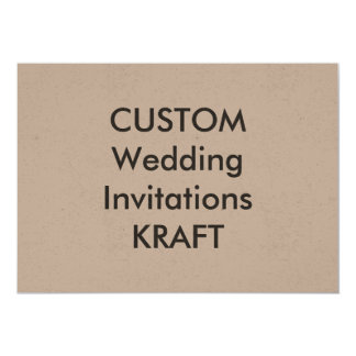 "KRAFT 100lb 7"" x 5"" Wedding Invitations"