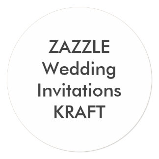 "KRAFT 5.25"" Round Wedding Invitations"