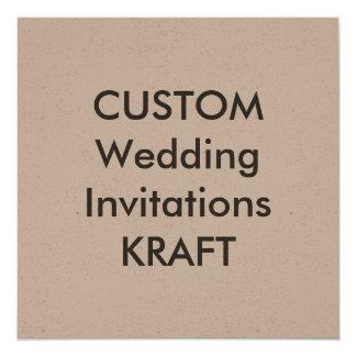 "KRAFT 5.25"" Square Wedding Invitations"