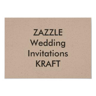 "KRAFT 5"" x 3.5"" Wedding Invitations"