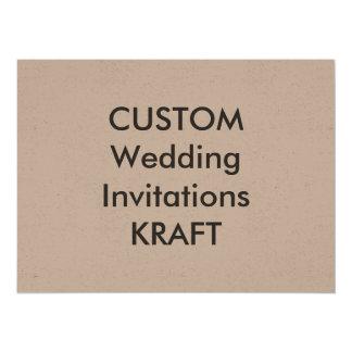 "KRAFT 7.5"" x 5.5"" Wedding Invitations"