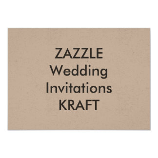 "KRAFT 7"" x 5"" Wedding Invitations"