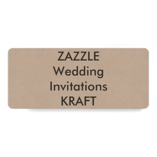 "KRAFT 9.25"" x 4"" Wedding Invitations"