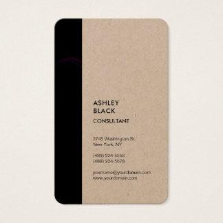 Kraft Black Stripe Minimalist Modern Style Simple Business Card