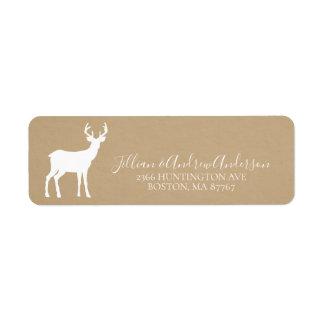 Kraft Christmas Deer Address Label