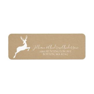 Kraft Deer Address Label