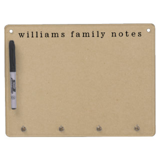 Kraft Effect Family Messages Dry-Erase Boards