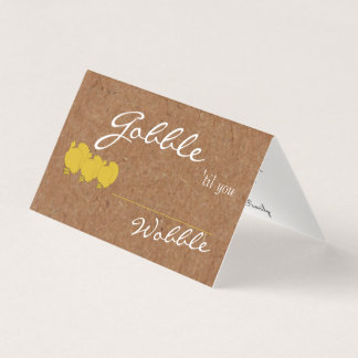 Kraft Gobble Til You Wobble Table Place Cards