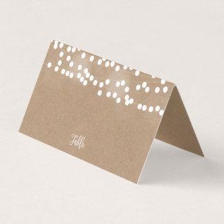 Kraft Lights Wedding Place Cards