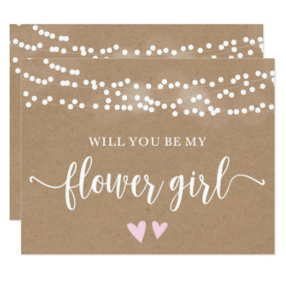 Kraft Lights Will You Be My Flower Girl Card