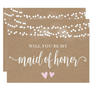 Kraft Lights Will You Be My Maid Of Honor Card