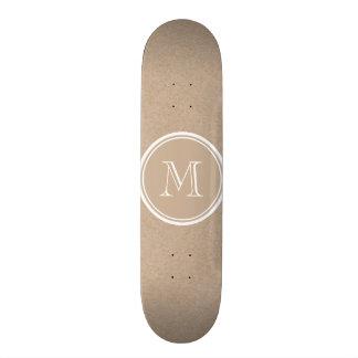 Kraft Paper Background Monogram Skate Deck