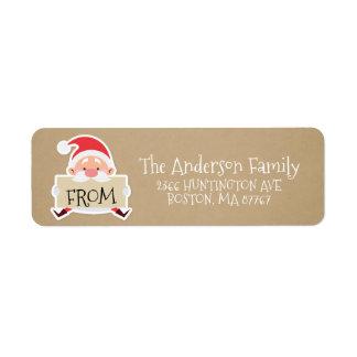 Kraft Santa Christmas Address Label