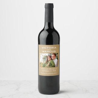 Kraft Wedding Photo Wine Bottle Favour Wine Label