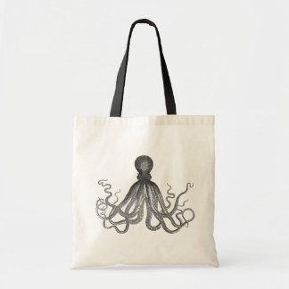 Kraken - Black Giant Octopus / Cthulu Tote Bags