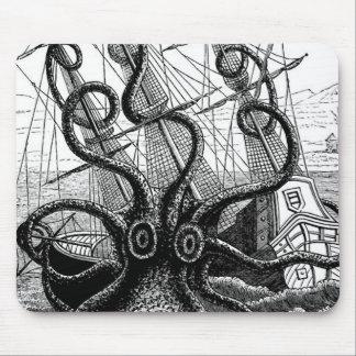 Kraken Eatting a Sailing Ship Mouse Pad