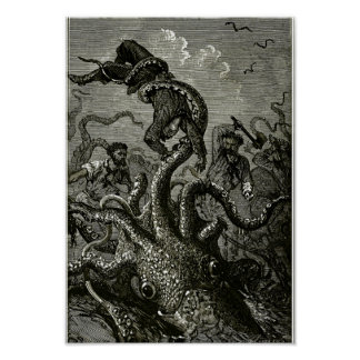 Kraken from 20000 Leagues Under the Sea Poster