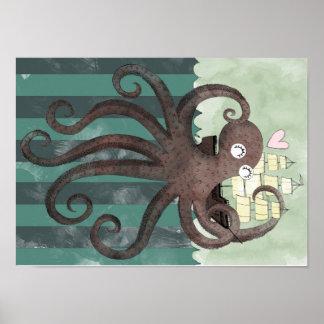 Kraken loves you poster