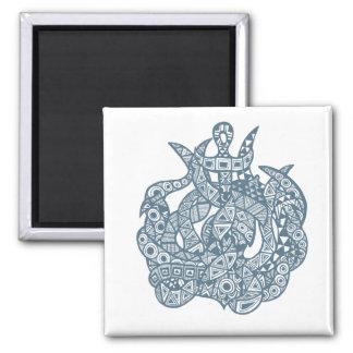 Kraken The Sea Monster 2 Inch Square Magnet