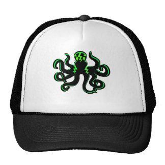 Kraken with Green Lightning Bolts Trucker Hat