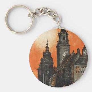 Krakow Basic Round Button Key Ring
