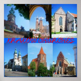 Krakow Churches Poster