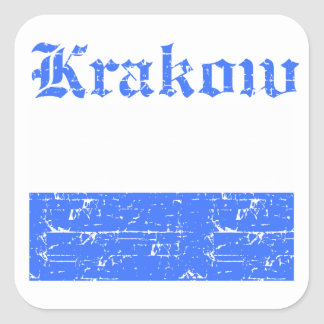 Krakow City designs Square Sticker