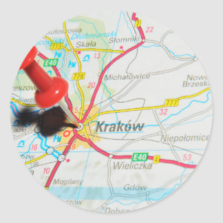 Kraków, Krakow, Cracow in Poland Classic Round Sticker