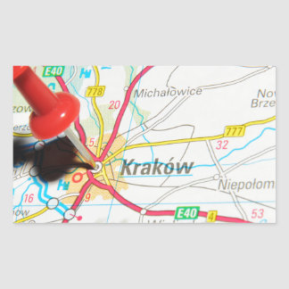 Kraków, Krakow, Cracow in Poland Rectangular Sticker