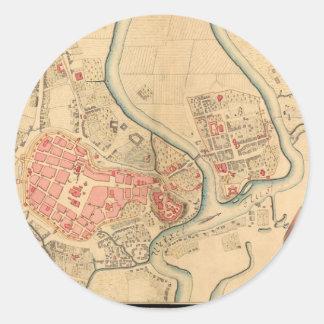 Krakow Poland 1755 Classic Round Sticker