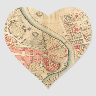 Krakow Poland 1755 Heart Sticker