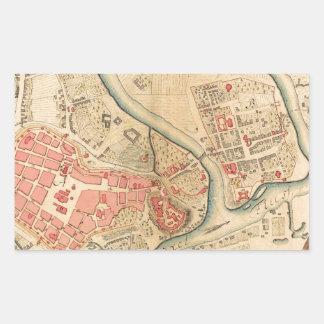 Krakow Poland 1755 Rectangular Sticker