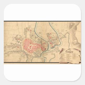 Krakow Poland 1755 Square Sticker