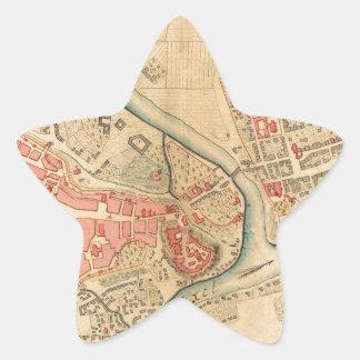 Krakow Poland 1755 Star Sticker